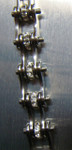 Timing Chain w/Crystals - All Silver - Slim