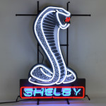 Neon Sign - Shelby Mustang Snake - With Backing