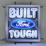 Built Ford Tough Neon Sign w/ Backing