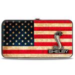 Hinged Wallet - SHELBY Tiffany Box Americana - Black/White