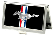 Business Card Holder - SMALL - Mustang Tri-Bar Logo