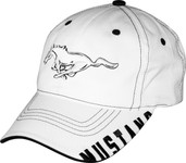 3D Mustang Running Horse White Hat