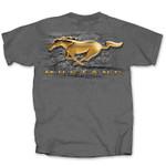 Gold Running Horse Mustang T-Shirt