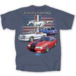 Fox Body Mustang American Flag T-Shirt