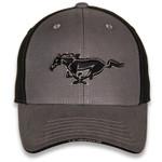 Black & Grey Mustang Running Horse Hat