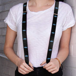 Suspenders - Blue Ford Oval Logo