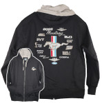 Mustang Embroidered Multi-Logo Hoodie