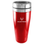 Travel Mug - Red - Mustang 45th Anniversary Logo