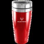 Travel Mug - Red - Mustang 45th Anniversary Logo