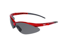 Fast Freddie Sunglasses - Smoke Lenses (Safety) - Red