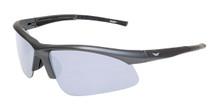 Ambassador Sunglasses - Flash Mirror Lenses - Metallic Charcoal (Safety)