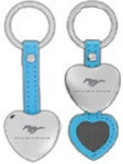 Blue Heart Mustang Hidden Photo Keychain