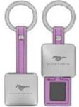 Purple Mustang Hidden Photo Keychain