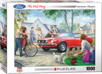 Puzzle - The Red Pony Ford Mustang - 1000 Pieces