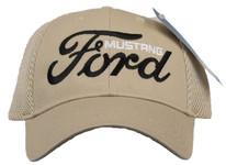 Ford Mustang Mesh Hat in Tan