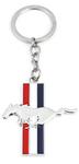 Mustang Tri-Bar Key Chain
