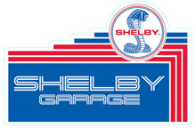 "Shelby Garage Cut-Out Steel Sign 12"" x 18"""