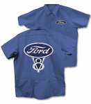 Ford V8 Work Shirt - 3XL - Royal Blue LAST ONE!