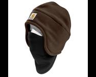 2-In-1 Fleece Cap & Mask - Brown