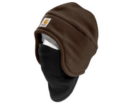 Carhartt 2-In-1 Fleece Cap & Mask - Brown