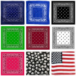 "Bandana 3 Pack - Several Colors to Choose! 22"" x 22"" FREE SHIPPING"