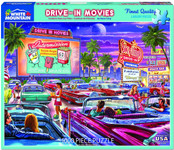 Puzzle - Drive-In Movie - Mustangs & More! - 1000 Piece Puzzle