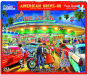 Puzzle - American Drive-In - Mustangs & More! - 1000 Piece Puzzle