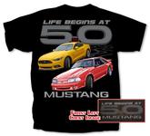 Life Begins at 5.0 Mustang T-Shirt