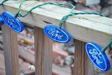 Blue Ford Oval String Lights