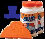 Puzzle Glue - 2-Pack 5oz Bottles & Wide Plastic Spreader