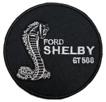 """Patch - Shelby GT500 Mustang 3"""" Round Black"""