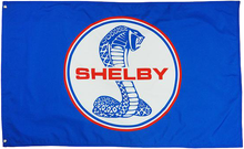 Flag - Blue Shelby Snake Logo