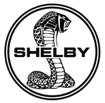 Decal - Shelby Black & White Snake Sticker S/M/L