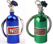 Key Chain - NOS Bottle * Blue or Green