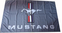 Flag - Mustang Tri-Bar on Gray