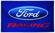 Flag - Ford Racing on Blue