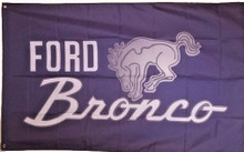 Flag - Ford Bronco on Bluish-Purple