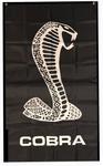 Flag - SVT Mustang Cobra Logo on Black