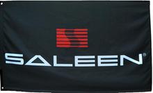 Flag - Saleen Mustang Logo on Black