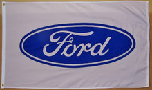 Flag - Ford Blue Oval on White