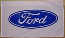 Flag - Ford Blue Oval on White