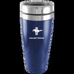 Travel Mug - Blue - Mustang Tri-Bar Logo