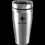 Travel Mug - Silver - Mustang Tri-Bar Logo