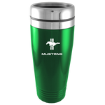 Travel Mug - Green - Mustang Tri-Bar Logo