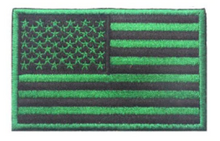 "Patch - Green US Flag 2""x3"" Velcro Backing"