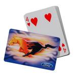 Mustang Playing Cards - Flaming Running Horse