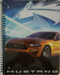 Mustang 1 Subject Notebook 70 Pages