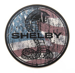 Car Coaster - Patriotic Shelby Snake Console Insert