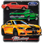 Classic & Modern Mustang Embossed Metal Sign