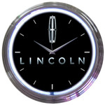 Neon Clock - Ford Lincoln in White Neon